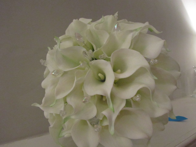 Real Touch White Calla Lily Bridal Bouquet On Luulla